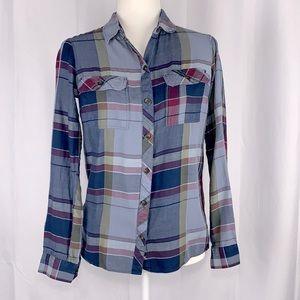 Eddie Bauer Long Sleeve Flannel Shirt Size XS